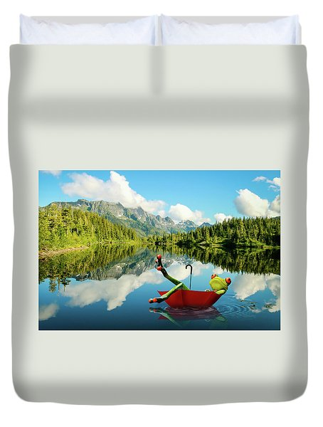 Duvet Cover featuring the digital art Lazy Days by Nathan Wright