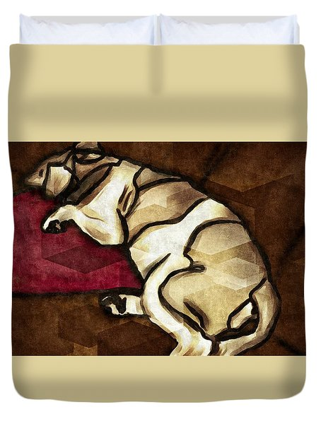 Lazy Hound Duvet Cover