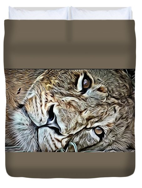 Lazy Lion Duvet Cover