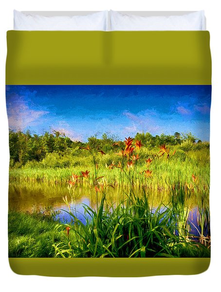 Lazy Summer Duvet Cover by Tricia Marchlik