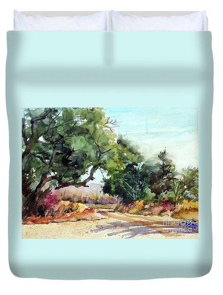 Lbj Grasslands Tx Duvet Cover by Ron Stephens