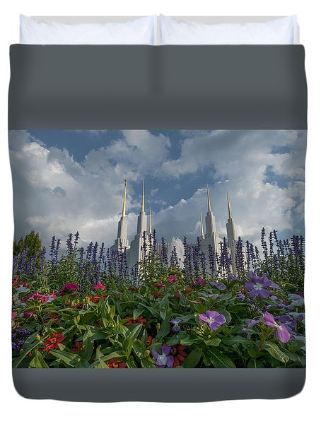 Lds Garden Flowers Duvet Cover