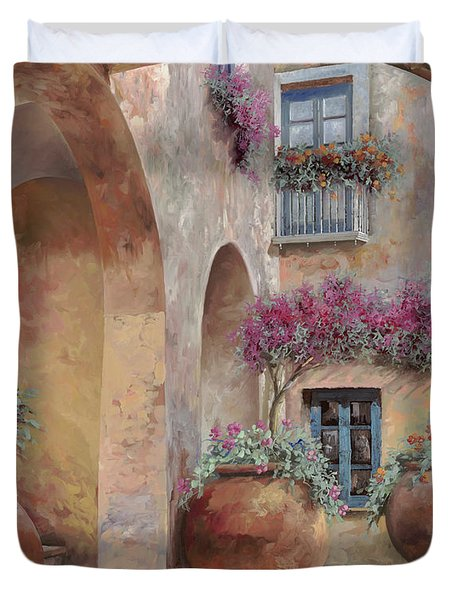 Le Arcate In Cortile Duvet Cover