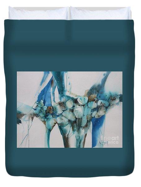 Le Barrage Duvet Cover by Donna Acheson-Juillet