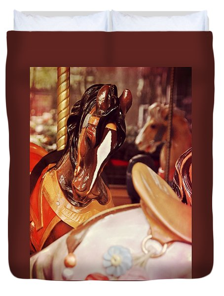 Le Carrousel Duvet Cover by JAMART Photography