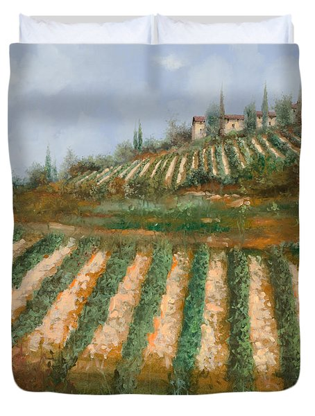 Le Case Nella Vigna Duvet Cover by Guido Borelli