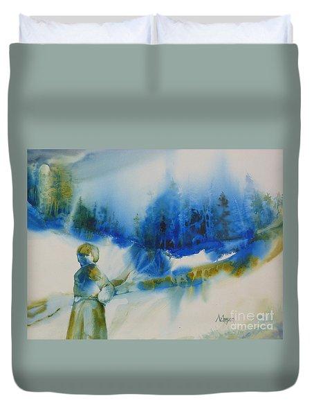 Le Chemin Duvet Cover by Donna Acheson-Juillet