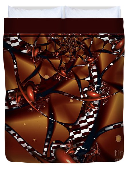 Duvet Cover featuring the digital art Le Chocolatier by Michelle H