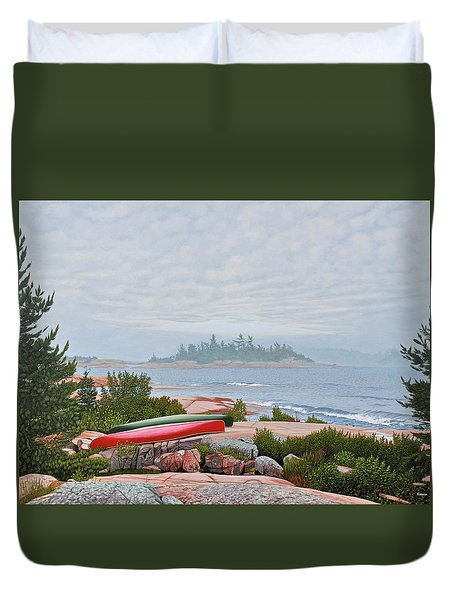 Le Hayes Island Duvet Cover by Kenneth M Kirsch