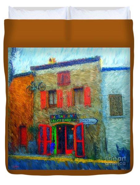 Le Lezard Restaurant Duvet Cover