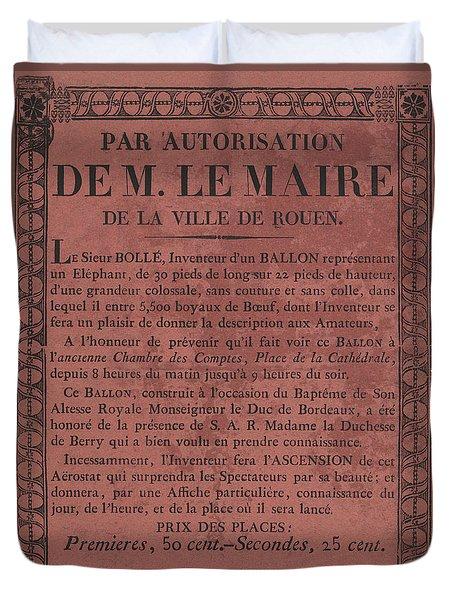 Le Maire Balloon Race Duvet Cover
