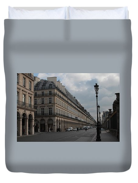 Duvet Cover featuring the photograph Le Meurice Hotel, Paris by Christopher Kirby