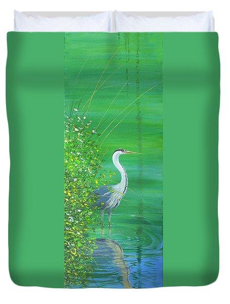 Le Petit Trianon Heron Duvet Cover
