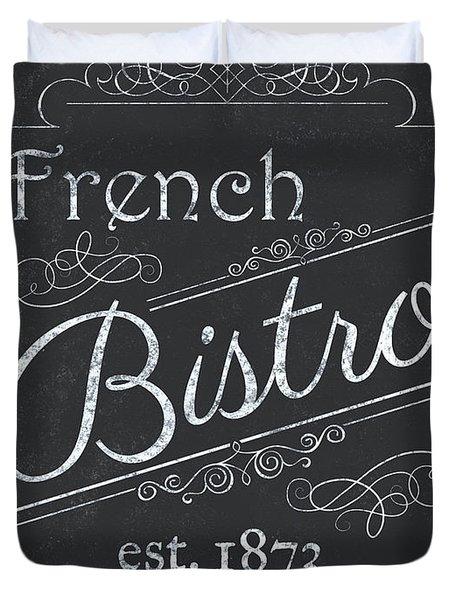Le Petite Bistro 4 Duvet Cover by Debbie DeWitt