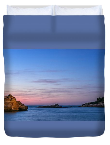 Duvet Cover featuring the photograph Le Phare De Biarritz by Thierry Bouriat