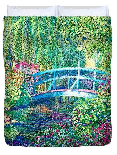 Le Pont Japonaise A Giverny Dans Le Jardin De Claude Monet Duvet Cover