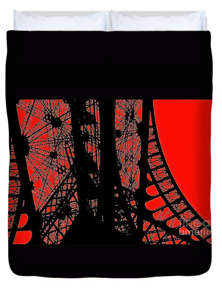 Duvet Cover featuring the photograph Le Rouge Et Le Noir by Danica Radman