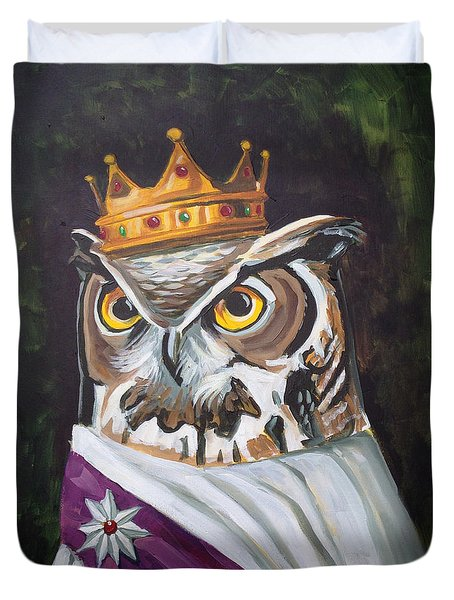 Le Royal Owl Duvet Cover by Nathan Rhoads