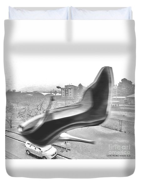 Flying Stiletto Duvet Cover