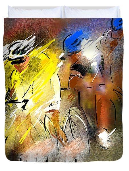 Le Tour De France 05 Duvet Cover by Miki De Goodaboom