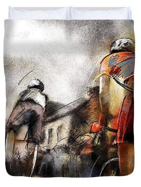 Le Tour De France 06 Duvet Cover by Miki De Goodaboom