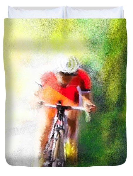 Le Tour De France 12 Duvet Cover by Miki De Goodaboom