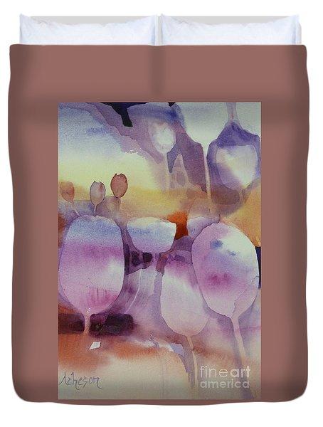 Le Vent Souffle Duvet Cover by Donna Acheson-Juillet