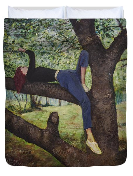 Lea Henry And The Henry Tree Duvet Cover