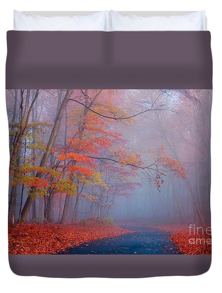 Duvet Cover featuring the photograph Journey by Rima Biswas