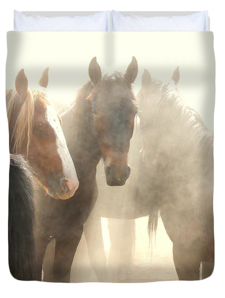Leader Of The Mob Duvet Cover