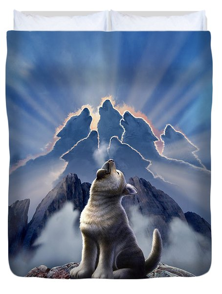 Leader Of The Pack Duvet Cover