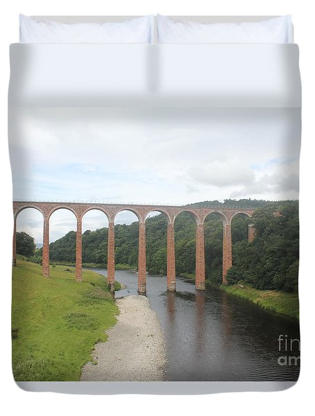 Leaderfoot Viaduct Duvet Cover