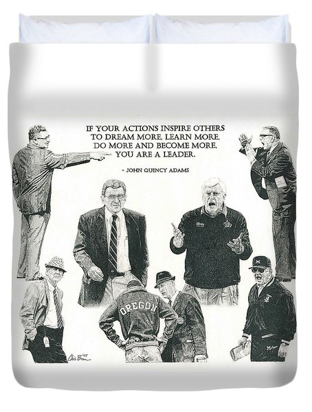 Leaders Of Men Duvet Cover