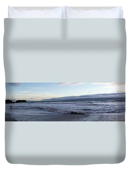 Leading Edge Duvet Cover by Michael Courtney