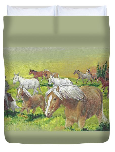 Leading The Bell Mare Duvet Cover