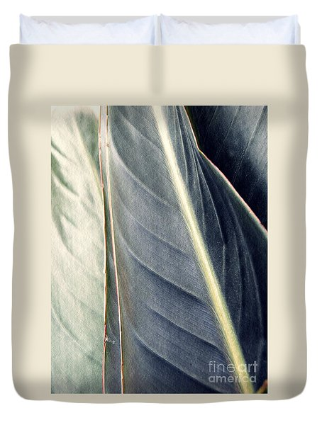 Leaf Abstract 14 Duvet Cover by Sarah Loft