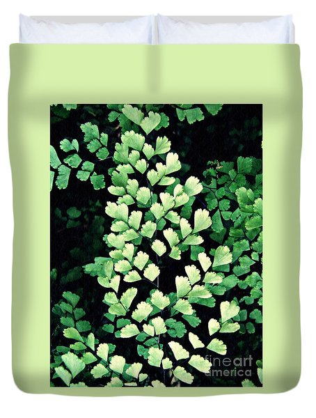 Leaf Abstract 15 Duvet Cover by Sarah Loft