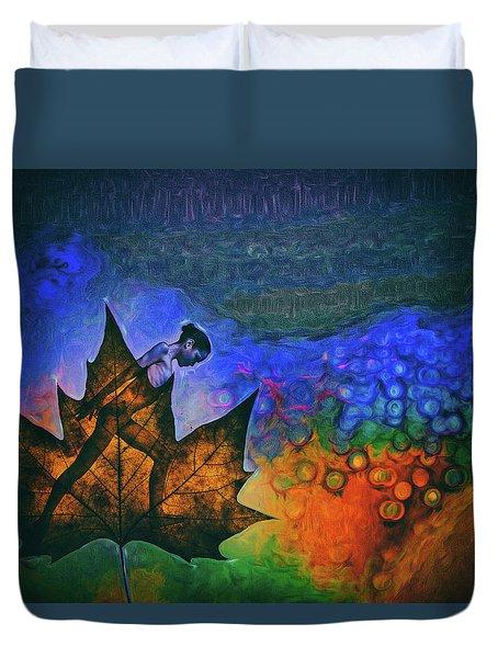 Leaf Dancer Duvet Cover by James Bethanis