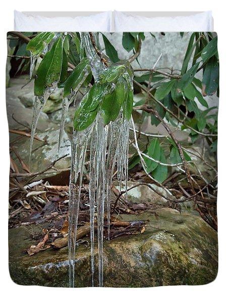 Leaf Drippings Duvet Cover