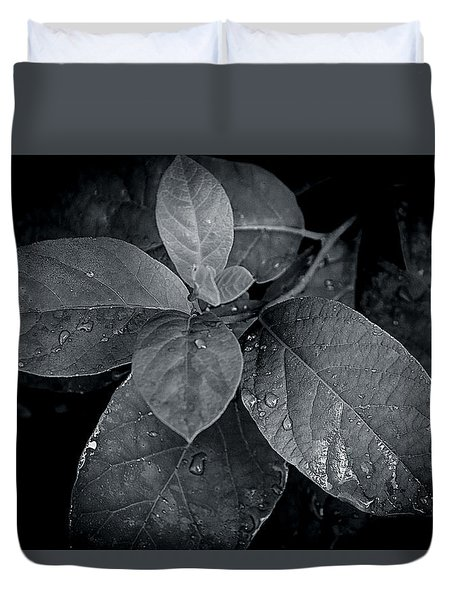 Leaf Droplets Duvet Cover