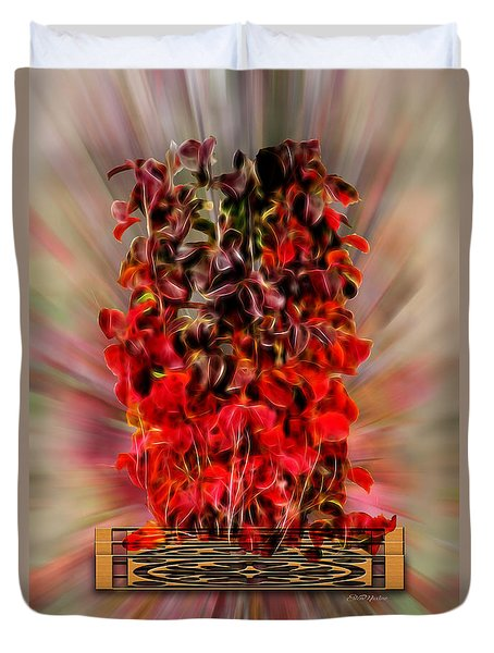 Leaf Explosion Duvet Cover by Ericamaxine Price