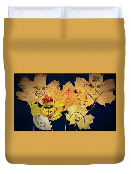 Leaf Family Duvet Cover by Jana E Provenzano