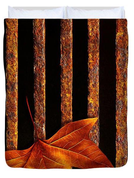 Leaf In Drain Duvet Cover