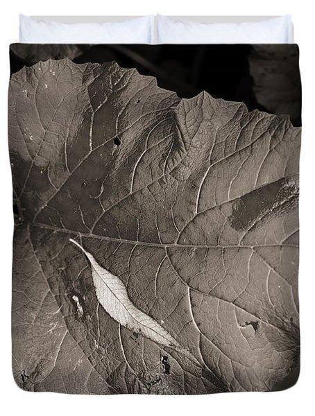 Leaf On A Leaf Duvet Cover