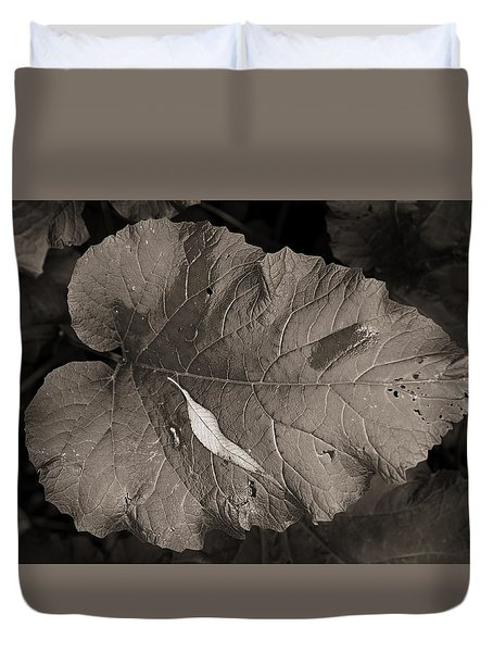 Leaf On A Leaf Duvet Cover