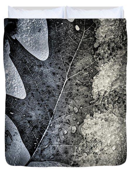 Leaf On Ice Duvet Cover