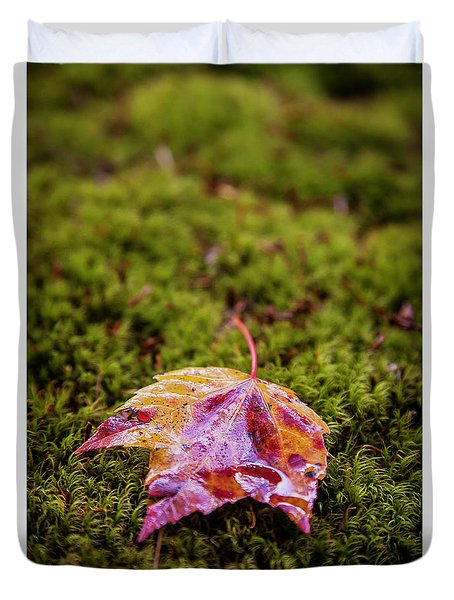Leaf On Moss Duvet Cover