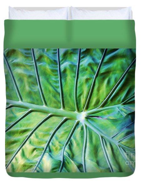 Leaf Pattern Duvet Cover by Teresa Zieba