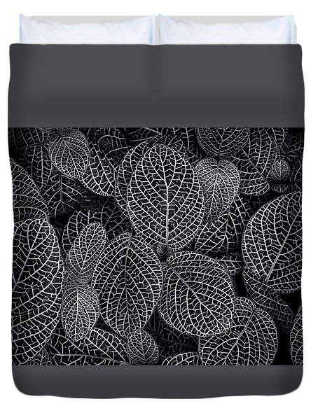 Duvet Cover featuring the photograph Leaf Pattern by Wayne Sherriff
