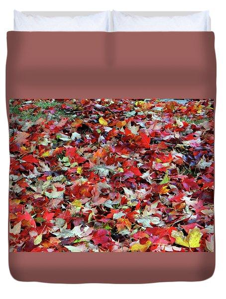 Leaf Pile Duvet Cover